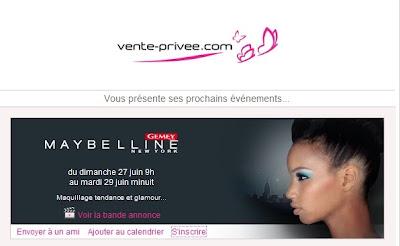 >Vente Privée Gemey Maybelline!