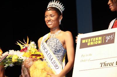 Fifi Souma courronnée Miss Africa USA 2010