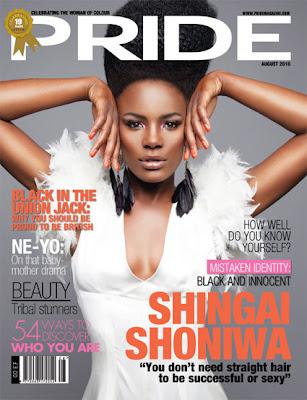 >Shingai Shoniwa en couv' du mag Pride