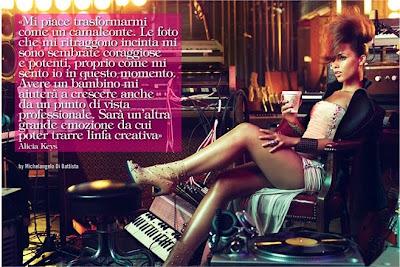 Alicia Key pose pour Vogue Italia