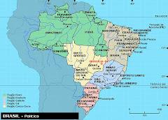 Mapa estados Brasil
