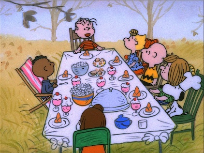 """A Charlie Brown Thanksgiving"" is one of Da-da's favorite animated pieces,"
