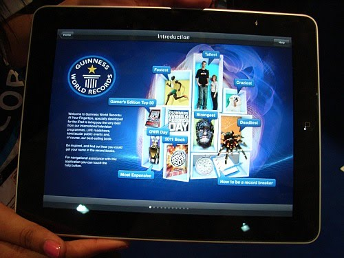 Photo of Guinness Book of Records running on iPad
