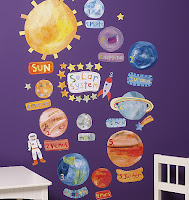 solar system wall play set