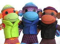 female sock monkeys from SockMonkey.net