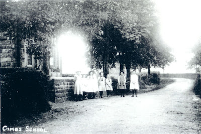 Old photo of Combs School - Thanks to Stefan at The Beehive for the loan of the photo
