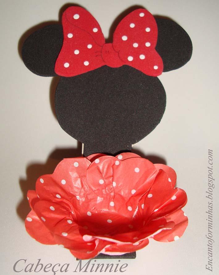 Minnie Decorativo  Enfeite De Mesa  Forminha Para Doces  Enfeite De