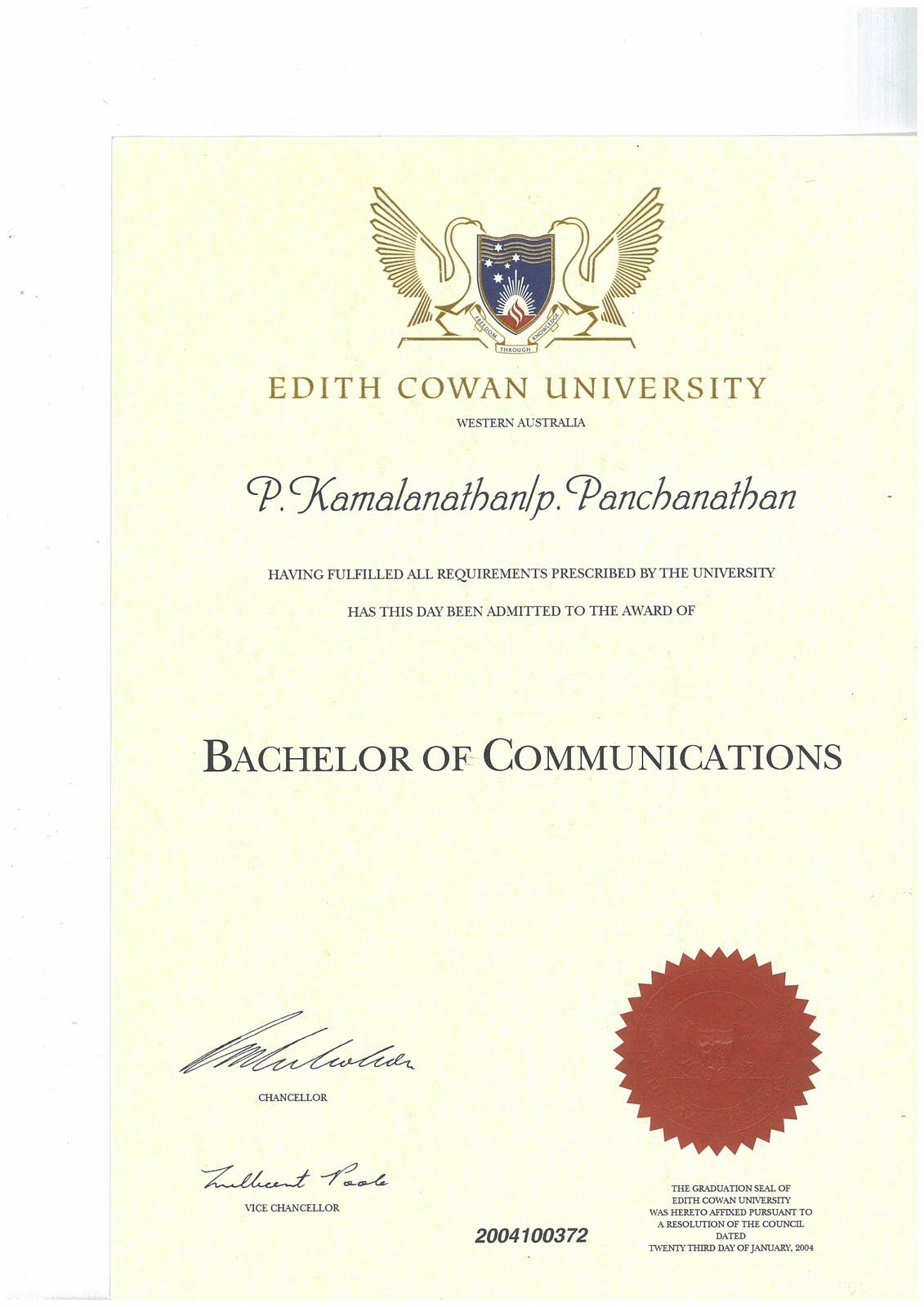 Kamalanathan Listed On Edith Cowan Website Anilnetto Com