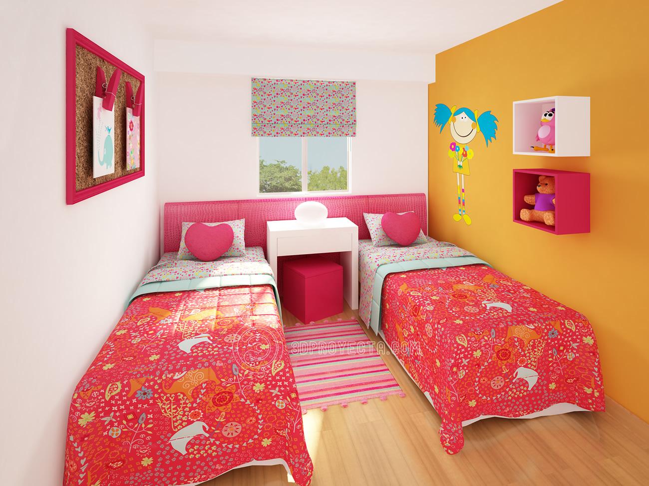 Julio 2010 vistas 3d lima per video 3d recorrido virtual - Dormitorio de ninas ...