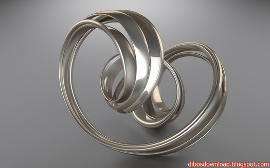 3D Digital Art Metal Spiral