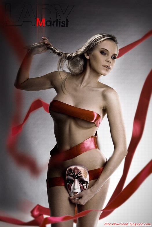 red belt and mask sexy girl