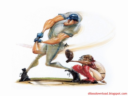 ball baseball meets caricature