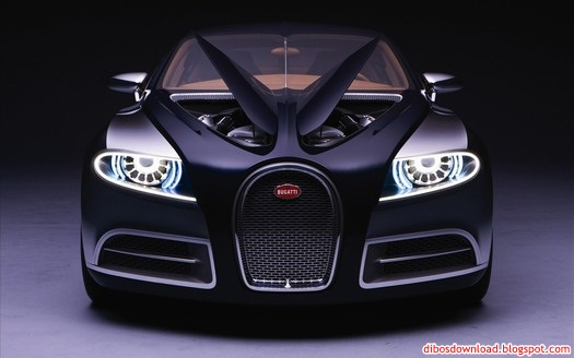 black bugati car