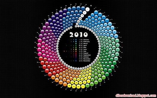 rainbow 2010 calendar