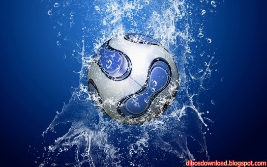water hitting the ball