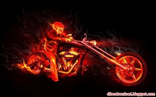 motorbike fire