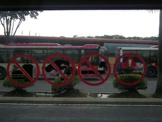 dari kiri dilarang makan dan minum dilarang membuang sampah dilarang ...