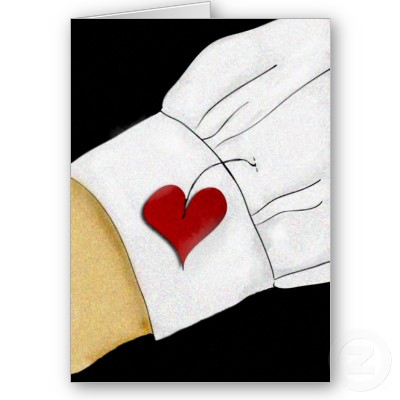 wear his heart on his sleeve