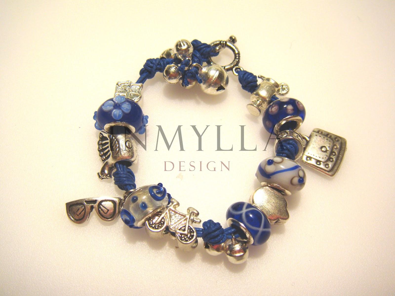 Inmylla design pulsera de colgantes tipo pandora azul for Tipos de pulseras
