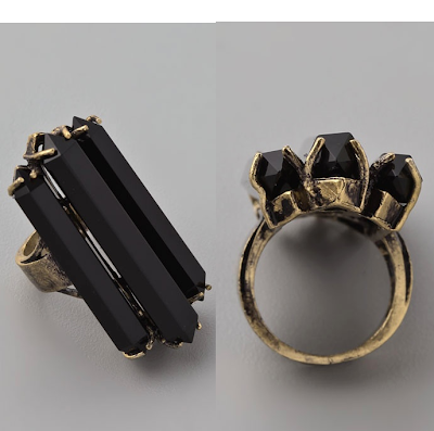>Low Luv x Erin Wasson Triple Agate Coctail Ring
