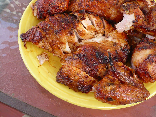 Rotisserie Chicken with Red Chile Marinade (Pollo Adobado)   Dad Cooks ...