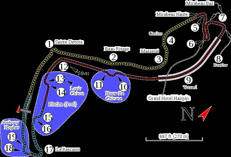 monaco grand prix map. tattoo 2010 Monaco Gran Prix