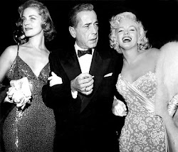 Lauren Bacall, Bogart y Marilyn Monroe