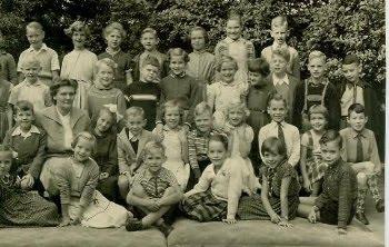 4e klas 1955 - Juf Burggrave