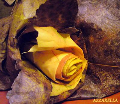 розы из кленовых листьев, рукоделие, творчество