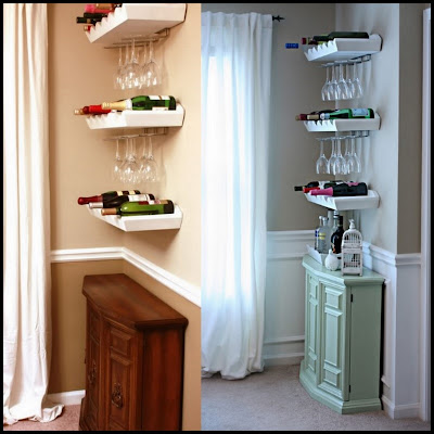 Dollar Store Crafter Mini Bar Nook Makeover