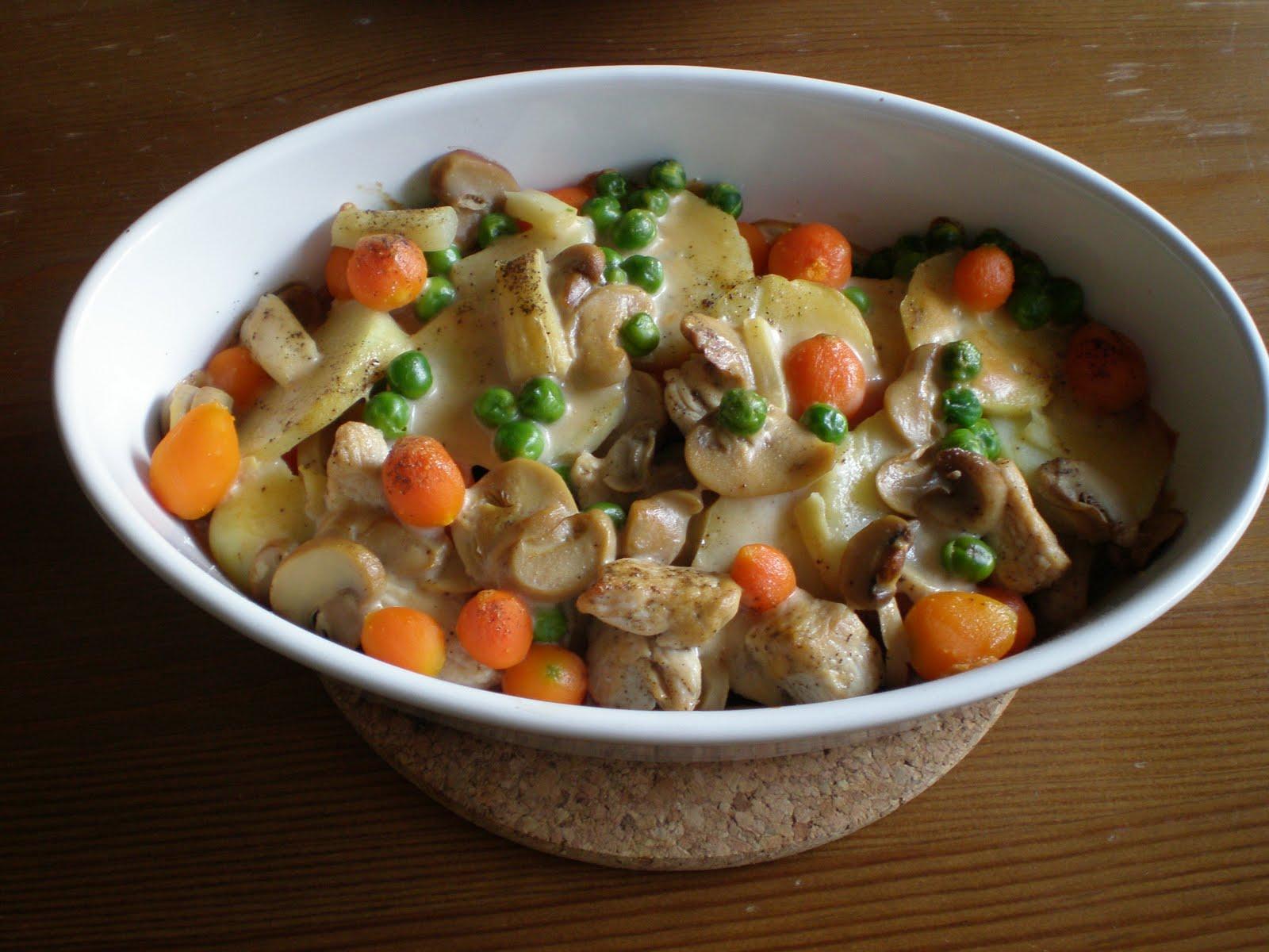 Feine Küchencreme ~ kartoffelauflauf mit rahmsauce leicht& lecker