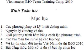 luyện thi  Olympic Toán học Quốc tế, luyện thi  Olympic, Toán học Quốc tế, IMO