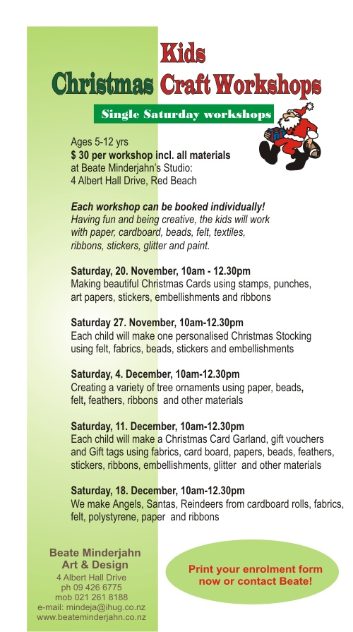 Kids Art Craft Workshops New Saturday Christmas Workshops For Kids