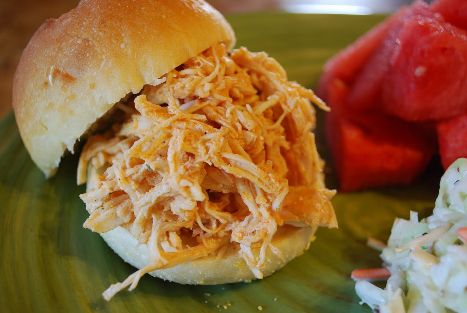 Slow Cooker Spicy Buffalo Chicken Sandwiches Recipe