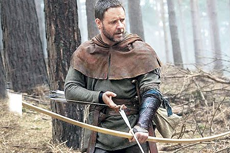 Some romantic licence must be allowed. Russell Crowe as Robin Hood