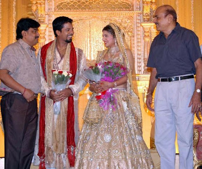 Tamil actress Rambha reception photos