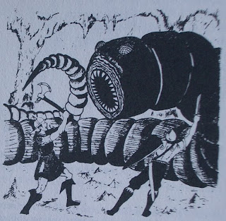 Giant worm monster