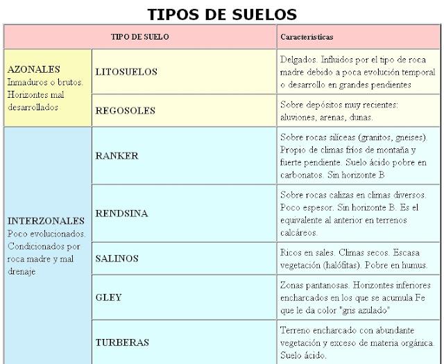 Los tipos de suelo for Suelos y tipos de suelos