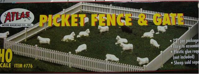 Model Railroad Plastic Fence