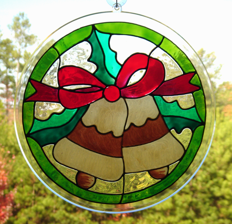 Gallery glass class easy breezy gallery glass for christmas for Simple glass painting pictures