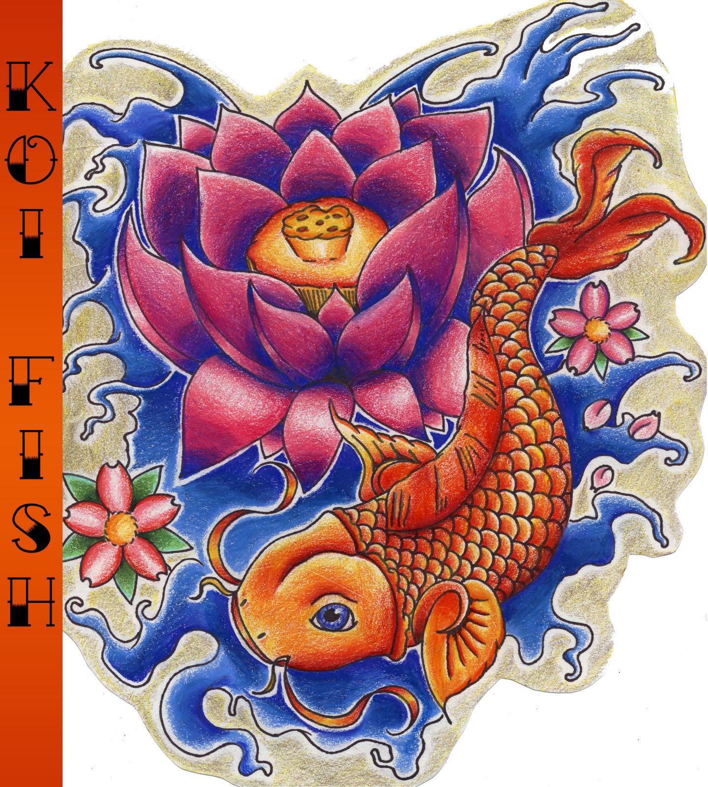 Koi tattoos for Pics of koi fish