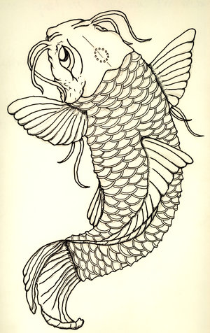 Any koi tattoo art is suppose to bring its wear wealth and abundance,