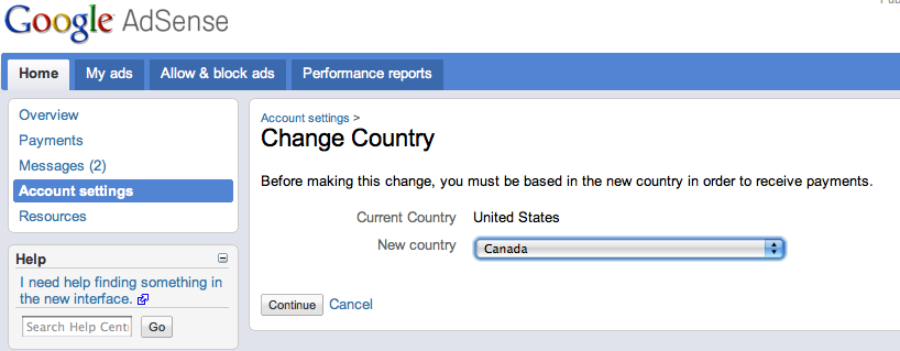 how to change google shopping country