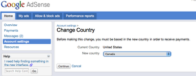 ChangeCountry An update on the AdSense Product Ideas page