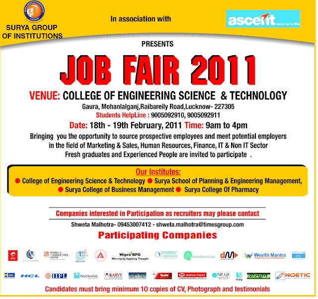 Surya Group of Institutions job fair