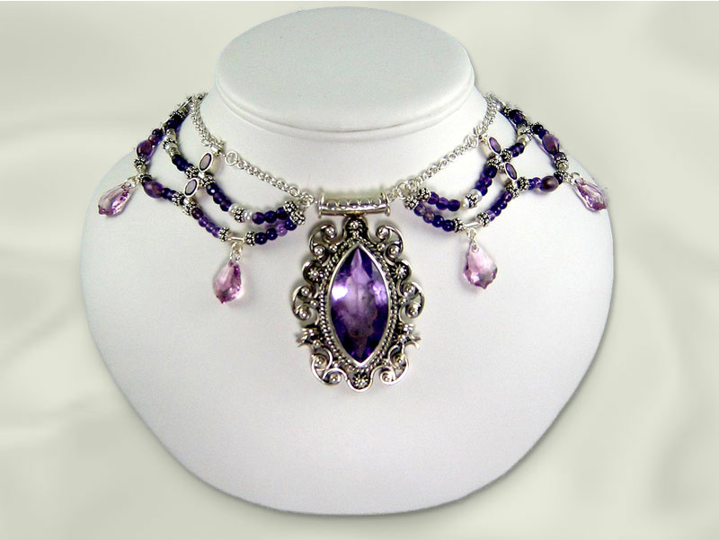 About Amethyst Jewelry: Amethyst Necklace