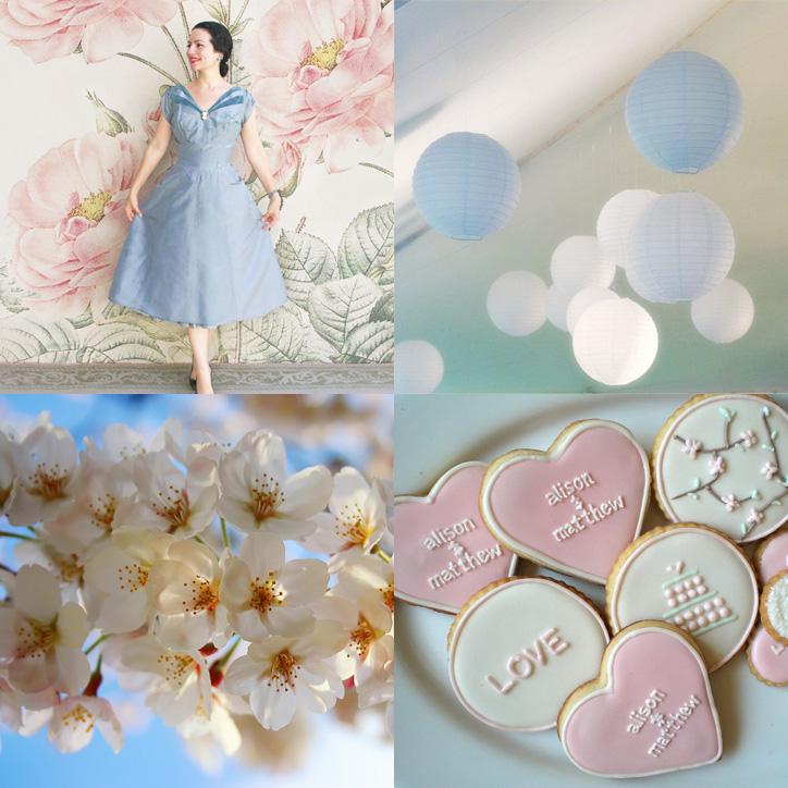 Wedding Decorations 3 Cherry Blossom 4 Wedding Engagement Set