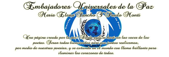 Embajadores Universales de la Paz  Maria Elena Sancho Y Paulo Monti