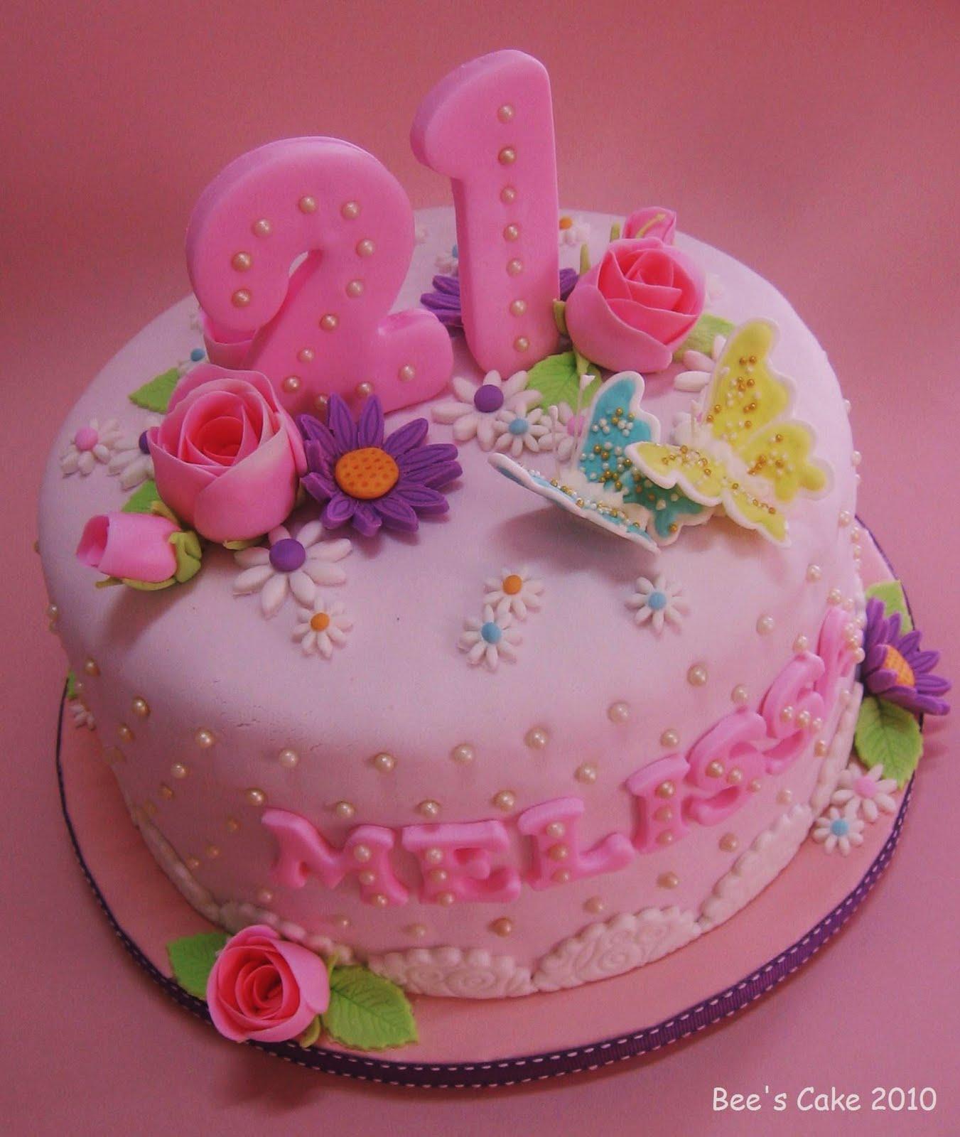 Bees Cake Melissas 21st Birthday