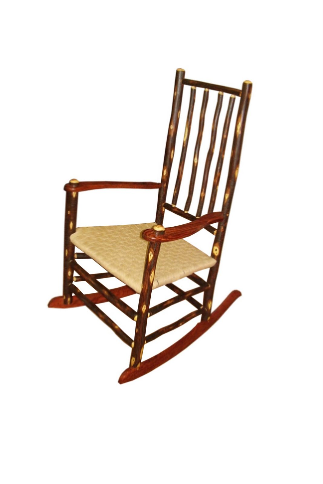 Rose Wood Craft Rustic Rocking Chair